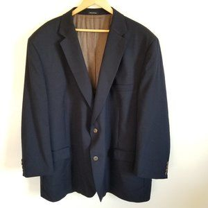 Joseph & Feiss Gold Navy Blue Suit Blazer Jacket